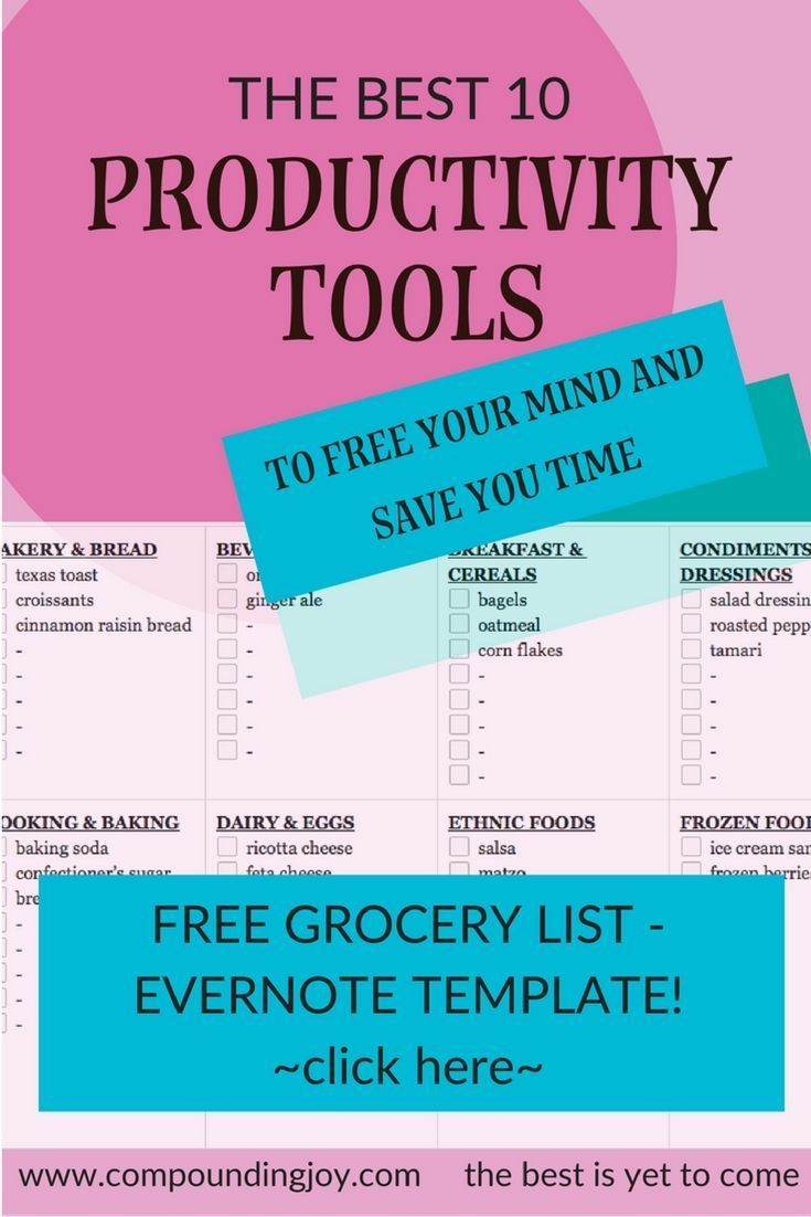 productivity tools | Evernote free templates | evernote | to-do list template | productivity apps