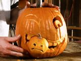 Halloween Pumpkin Carving: A Large Pumpkin Eating a Small Pumpkin : How-To : DIY Network