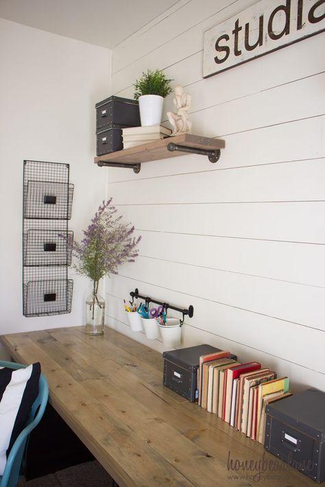 DIY Industrial Farmhouse Desk
