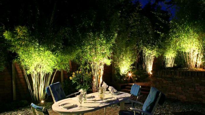 Die Gartenbeleuchtung Die Notwendige Voraussetzung Fur Den Gartengenuss Gartenbeleuchtung Garten Grundriss Kleiner Balkon Garten