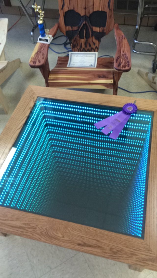 This Coffee Table Looks Ordinary, But It Transforms Into The Coolest Thing When He Dims The Lights [STORY]