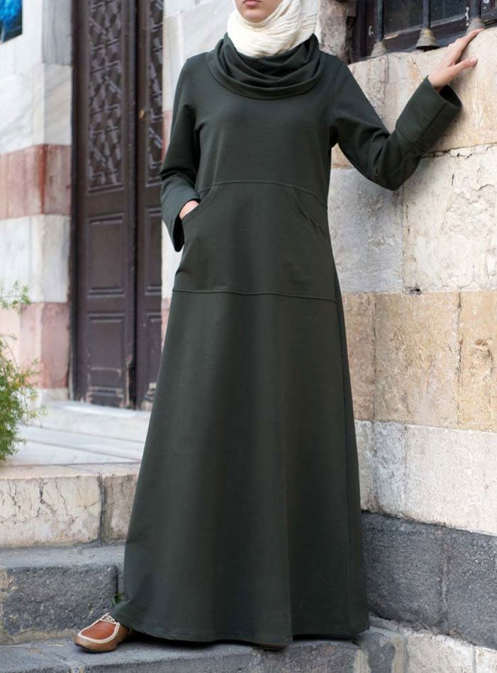 SHUKR USA | Cowl Neck Sweaterdress