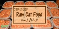 Step-by-step instructions for making raw cat food with a grinder. You'll know exactly what is going into your cat's species appropriate diet.
