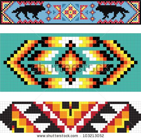 Native American Beading Patterns | Traditional (Native) American Indian Pattern, Vector - 103213052 ...