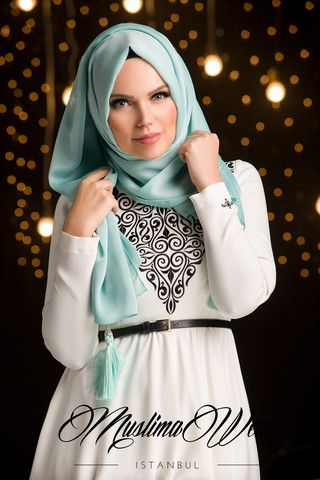 Muslima Wear Chiffon Scarf hijab Mint Color | US Muslima Wear