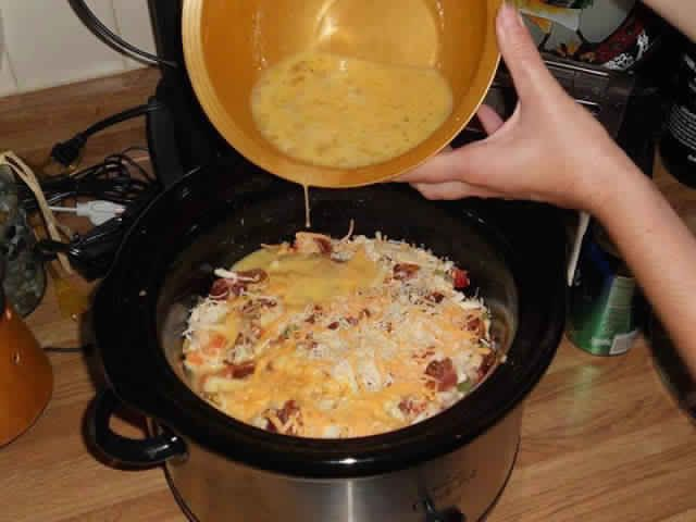 Ingredients: 1 bag 26 oz. frozen hash browns 12 eggs 1 cup milk 1 tablespoon ground mustard 1 16 oz. roll sausage maple, sage or regular sausage. Salt and pepper 16 oz. bag shredded cheddar cheese Directions: 1. Spray crock pot and evenly spread hash browns at the bottom. 2. Crack 12 eggs in a…