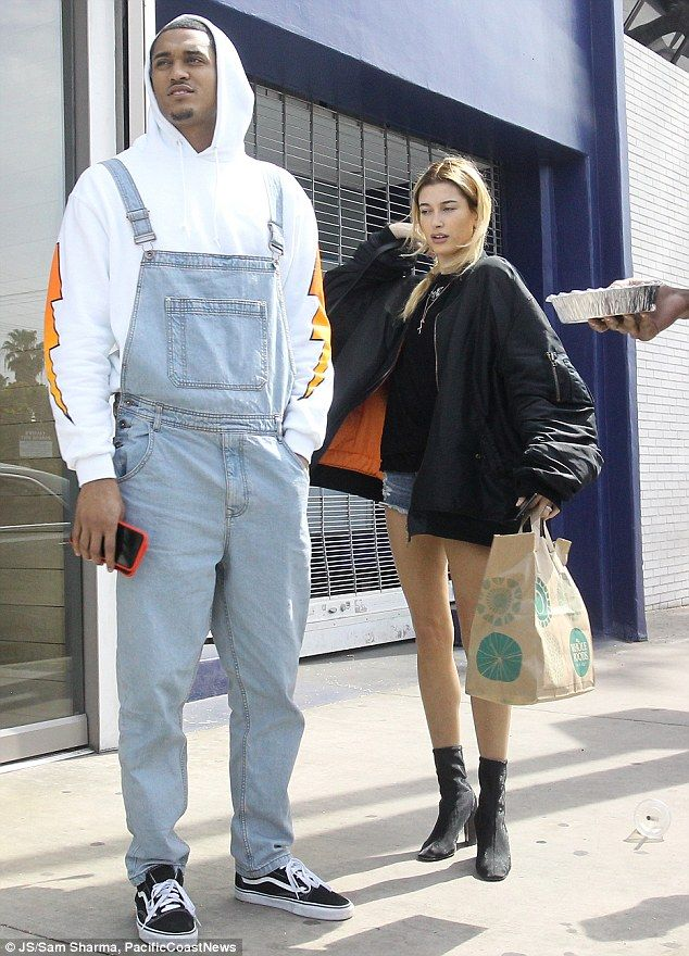 Rumored romance: Hailey Baldwin, 20, and Jordan Clarkson, 24, enjoyed lunch together atJon & Vinny's in Los Angeles on Friday afternoon