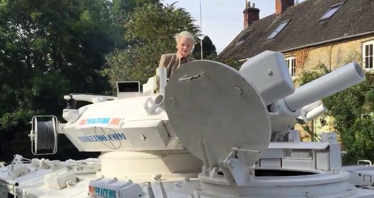 Watch: Vivienne Westwood takes tank to David Cameron's house http://www.dazeddigital.com/fashion/article/26353/1/watch-vivienne-westwood-takes-tank-to-david-cameron-s-house