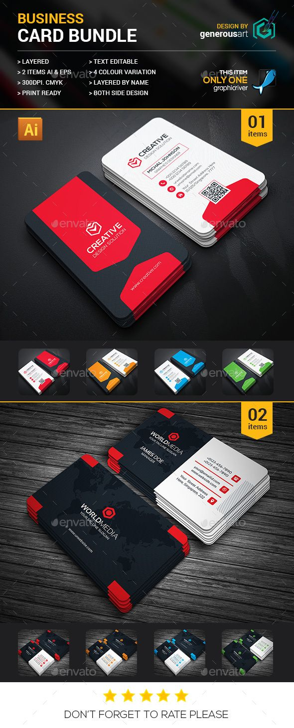 2 Business Cards Template PSD. Download here: http://graphicriver.net/item/business-card-bundle-2-in-1/16401865?ref=ksioks