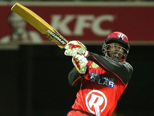 What a shot! Catch Chris Gayle as he plays for the Melbourne Renegades in the Big Bash League (#BBL05)