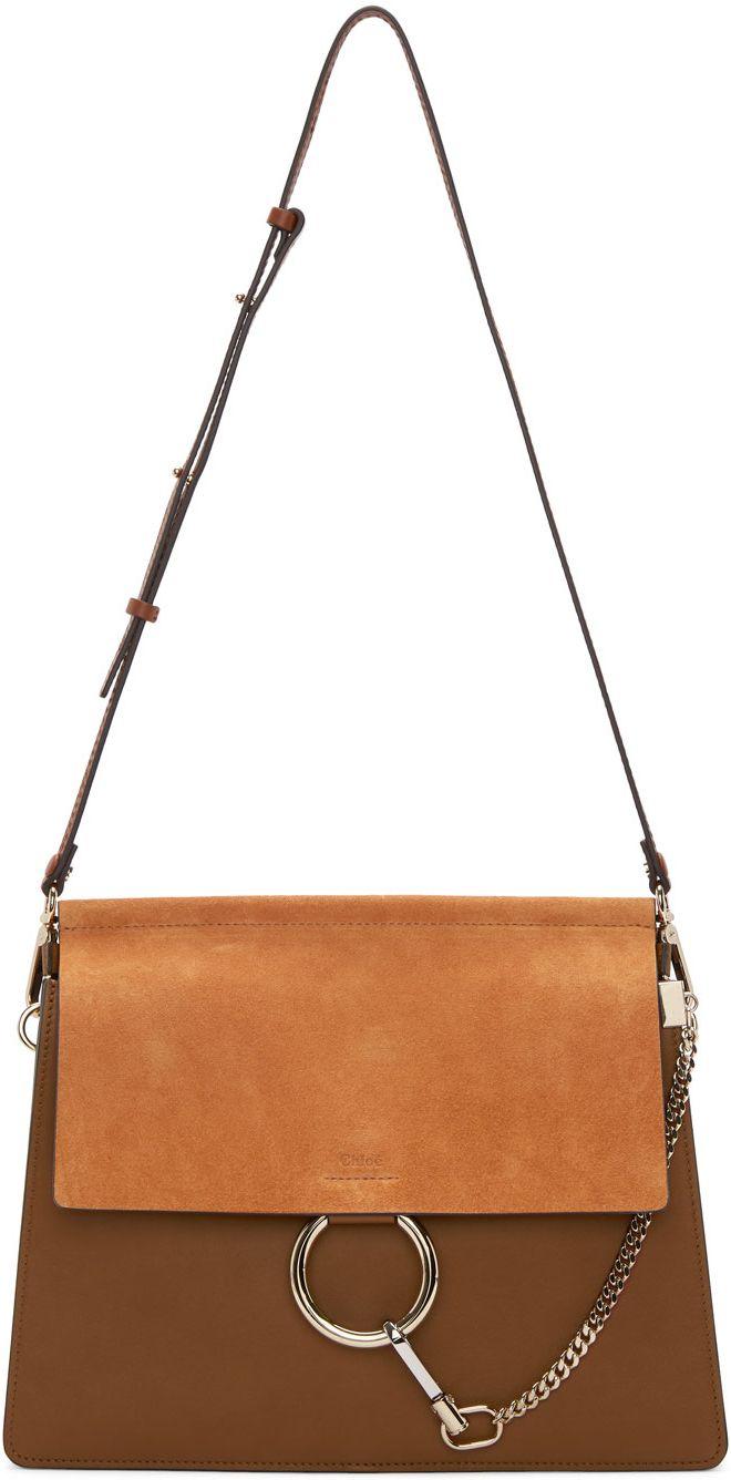 Chloe Brown Medium Faye Bag