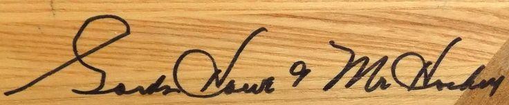 Sports Integrity - Gordie Howe Signed Limited Edition Northland Hockey Stick Mr. Hockey Insc. JSA,