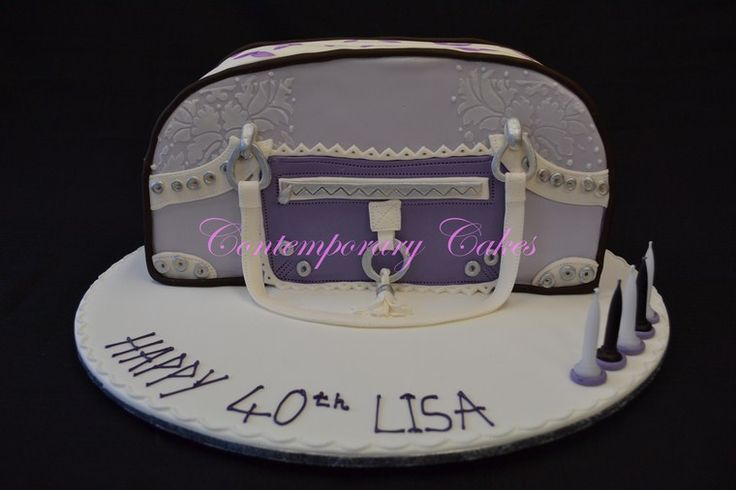 Spencer and Rutherford designer handbag cake.