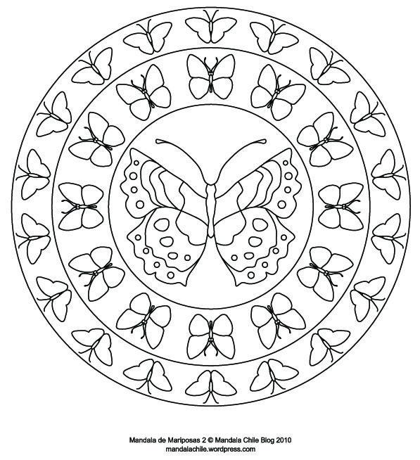 Dibujos De Mandalas De Mariposas Para Pintar Con Imagenes