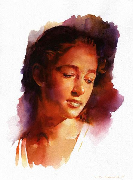 Super 293 best Portraits Watercolor images on Pinterest | Watercolor  YE08