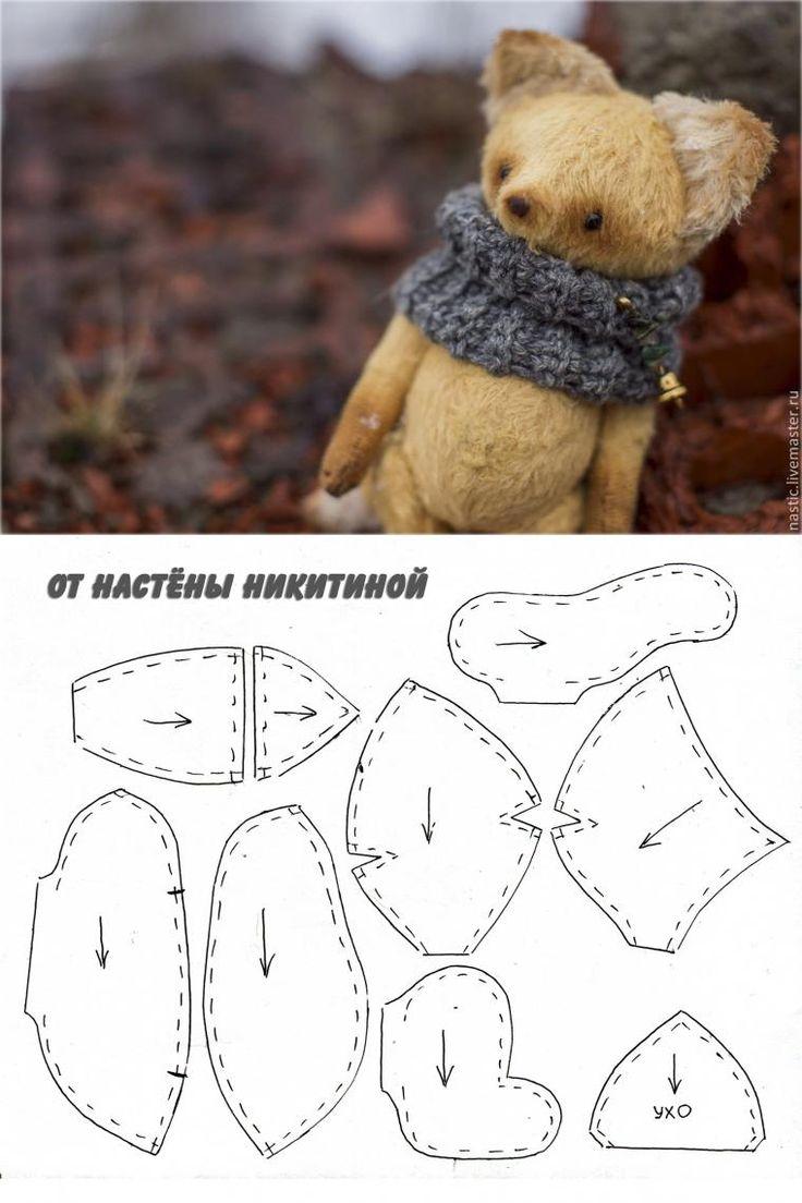 Выкройка уже с припуском, около 3мм от края)) Печать на листе А4 (вместе с картинкой) Больше фото лисёнка тут http://www.livemaster.ru/item/8826535-kukly-igrushki-zorko-o&…