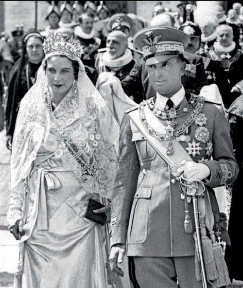 King Umberto II of Italy and consort, Queen Maria Jose