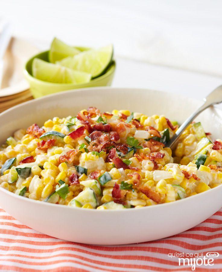 Maïs et courgette en sauce crémeuse #recette