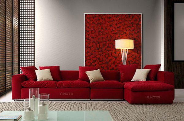 赤いソファー。赤い部屋のアイデアまとめ