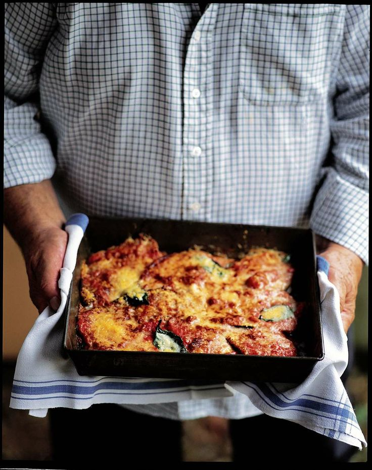 Timbale of aubergines with parmesan and tomato by Antonio Carluccio | Cooked