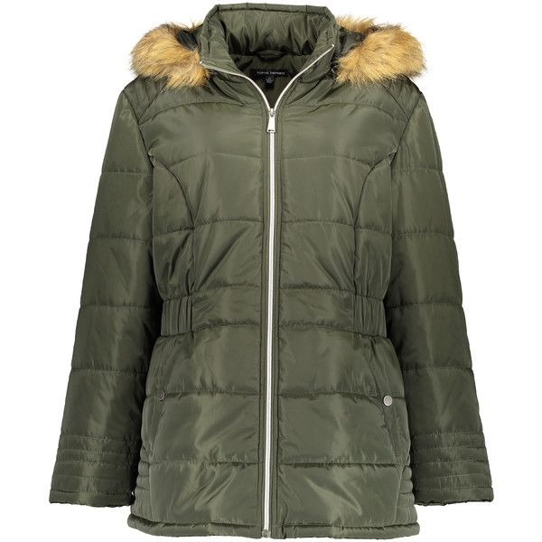 Harvé Benard Forest Faux Fur-Accent Puffer Jacket (1.910 RUB) ❤ liked on Polyvore featuring plus size women's fashion, plus size clothing, plus size outerwear, plus size jackets, plus size, long jacket, zipper jacket, harve benard jacket, fake fur jacket and plus size womens jackets