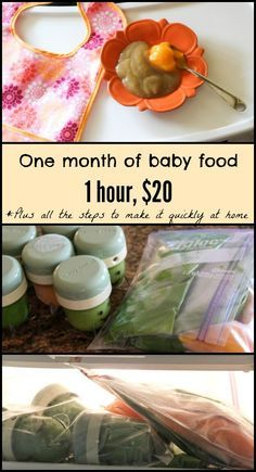 One month of healthy homemade baby food for less than $20 and all the steps to make it quickly. fitnessista.com