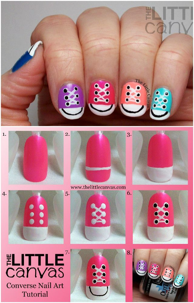 Best 25 converse nail art ideas on pinterest converse nails diy converse nail art design manicure ideas and tutorials pink prinsesfo Image collections