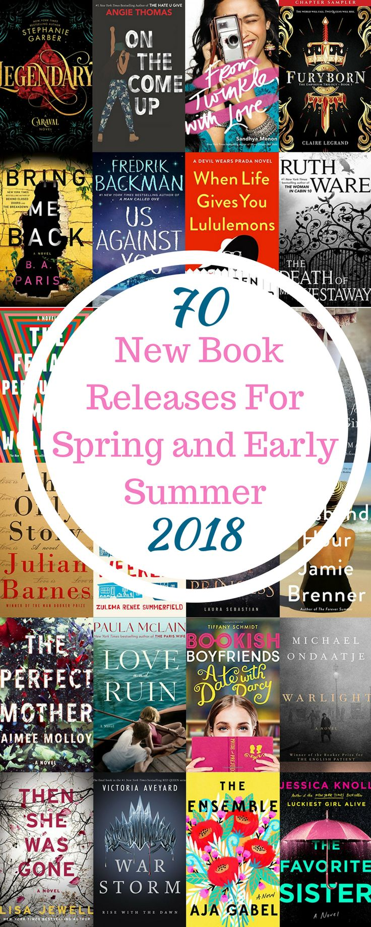 Pin Now, Read Later. This comprehensive list of the hottest new book releases will ensure you always have a book to read on vacation. From Contemporary fiction to psychological thrillers, historical fiction to romance, there is something for even this pickiest reader on this list!