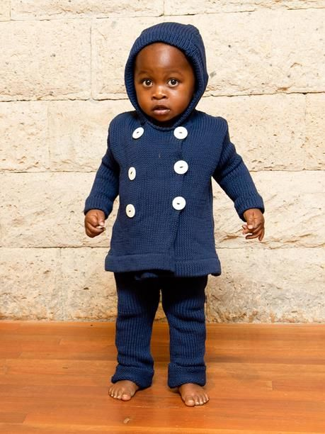 Toto Knits - Organic Cotton Double-Breasted Jacket  and matching leggings! Cutie outfit!