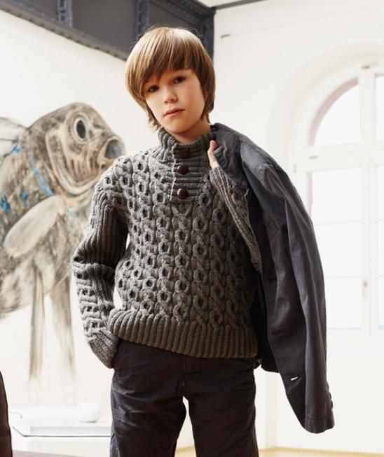 Childs Cable Knit Sweater, 1697 Free Pattern