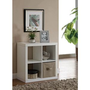 Better Homes and Gardens Square 4-Cube Organizer - Walmart - $38 (use as printer stand next to desk)