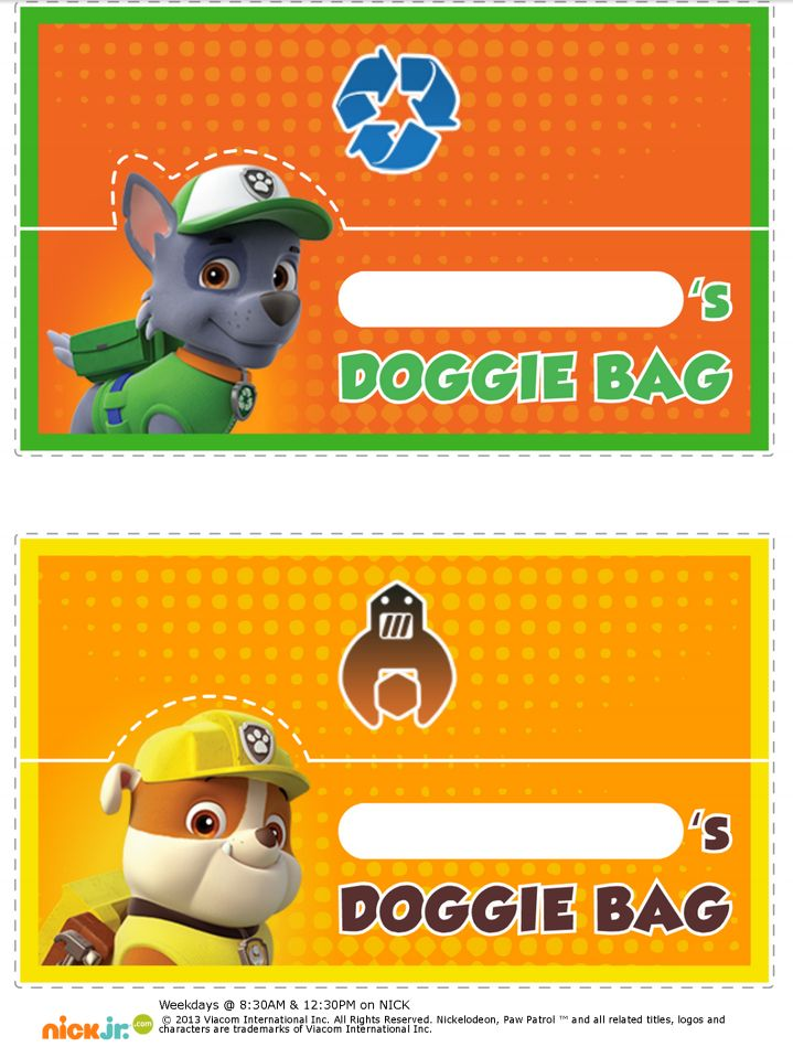 1000 Images About Paw Patrol Printables On Pinterest