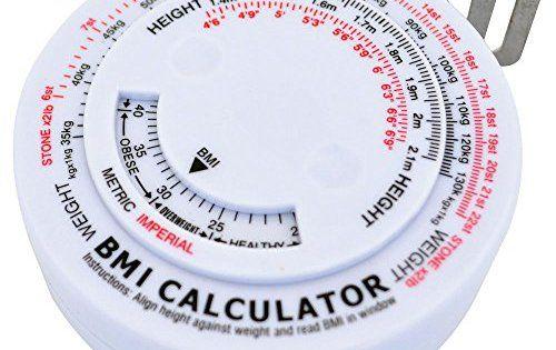 66FIT Mètre ruban avec indicateur d'IMC: Le ruban anatomique de mesure et le calculateur d'IMC (Indice de Masse Corporelle) 66fit est…