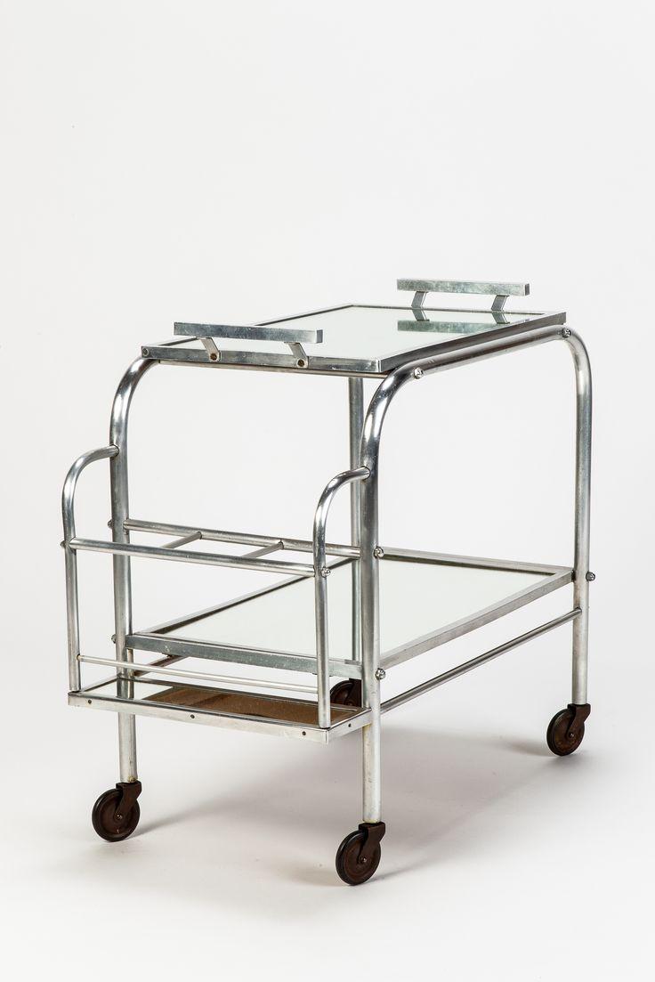 Aluminium Bar Cart Art Deco 30 Tables Pinterest