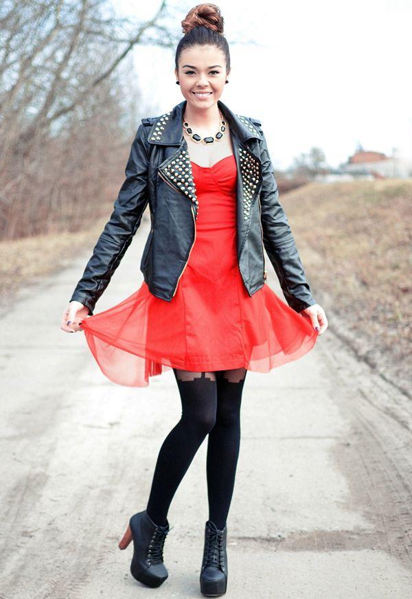 Sukienka rozkloszowana z gorsetem Dresstination - Dresstination
