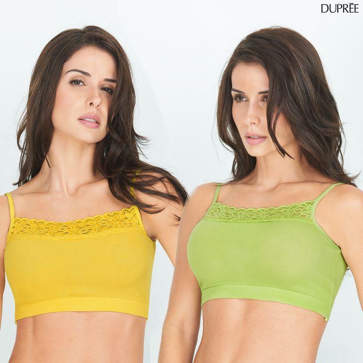 ¿Ya viste los tonos de verano del Dúo de Top Maly? Luce algo diferente hoy.. Amarillo y verde.
