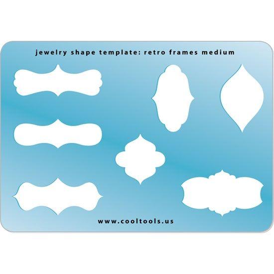 Jewelry Shape Template   Retro Frames Medium   Cool Tools