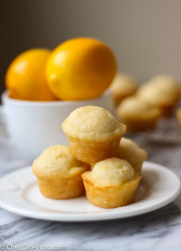 Sweet and floral Meyer lemons are the star of the show in these Meyer Lemon Mini Muffins. Greek yogurt keeps them so light and moist - they are delicious!