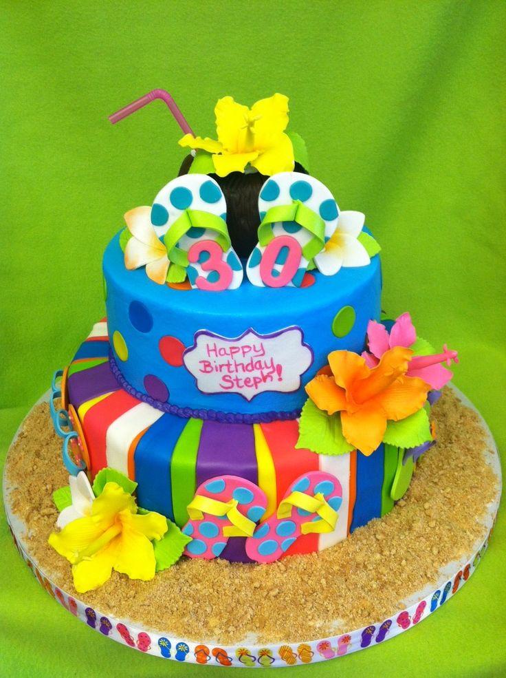 Hawaiian Flip Flop Cake