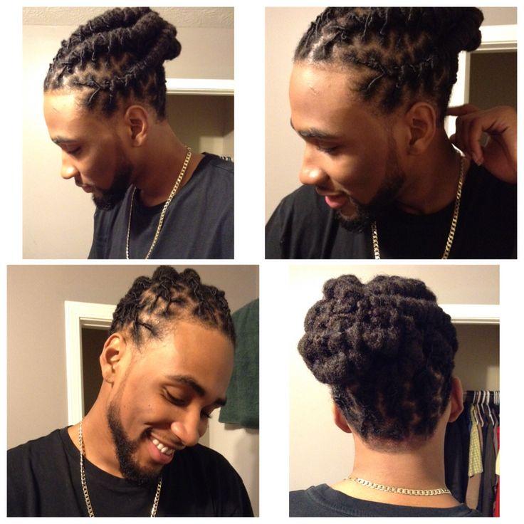 Featuring: My man. My other half. Black man with dreadlocks. Designed dreads. Man bun. Braided dreads.