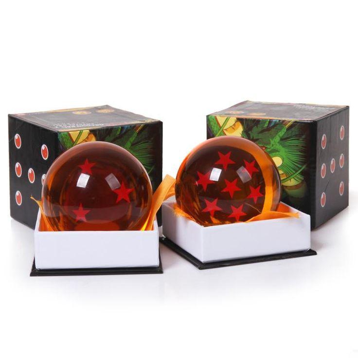 Warna kotak 1 Pcs 7 cm Dragon Ball Z Bintang Bola Kristal PVC gambar Mainan Dragonball Z Mainan 1 ~ 7 Bintang Dipilih Kotak Hadiah Besar