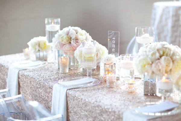 Wedding Tablescapes- glitter table