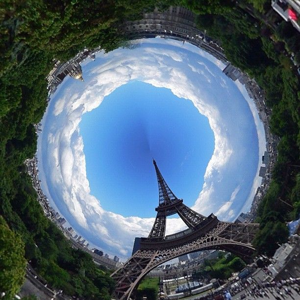 Pics I took in Paris, edited using Tiny Planet app