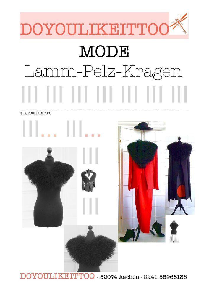 LAMM-PELZ-KRAGEN,Damen, schwarz,Echtpelz, in Kleidung & Accessoires, Damen-Accessoires, Schals & Tücher | eBay