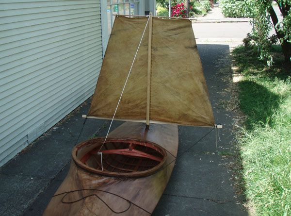 Yupik Homes Inside | Another view of the sail. This kayak goes downwind nicely, but doesn't ...