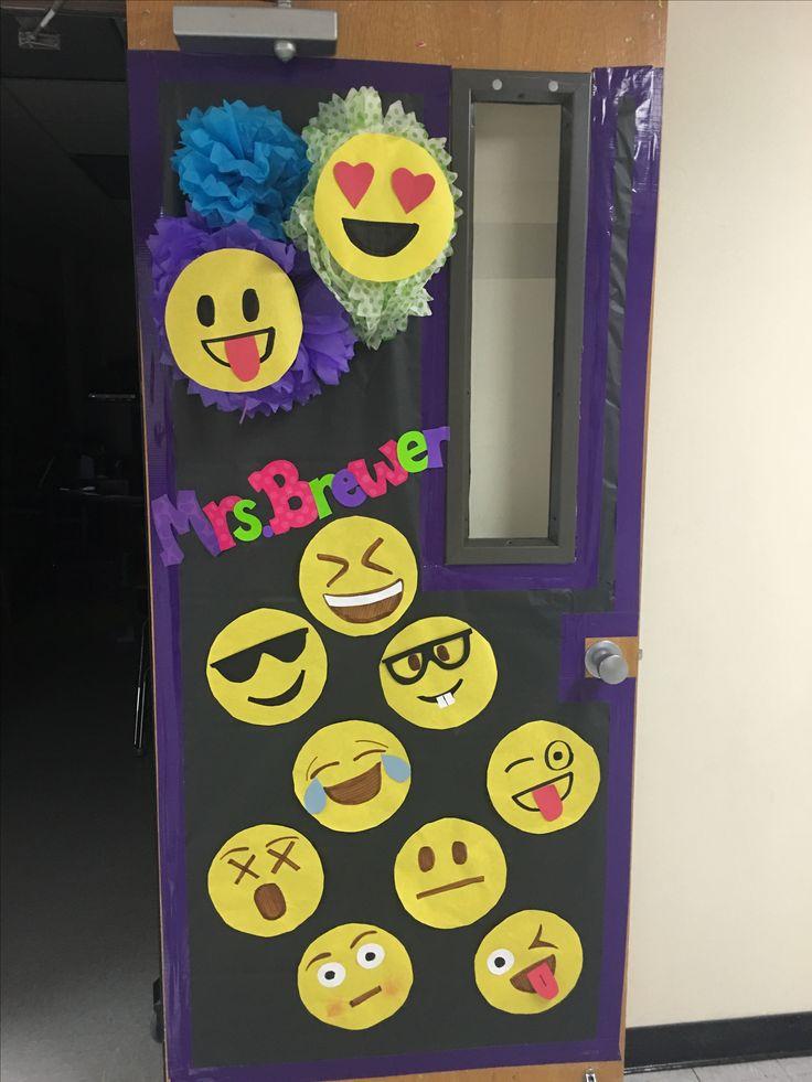 Classroom Design For Valentines Day ~ Emoji classroom door pinterest doors