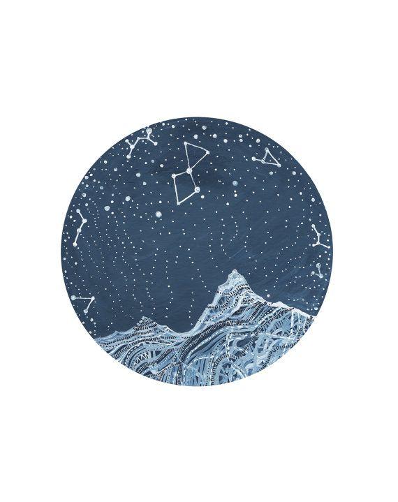 Fine Art Print-Lyra Constellation by elisemahanfineart on Etsy