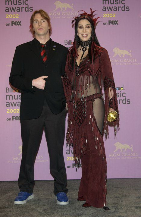 Cher & son Elijah Blue Allman at the 2002 Billboard Music Awards at the MGM