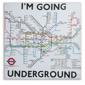 Typical Map of London Underground