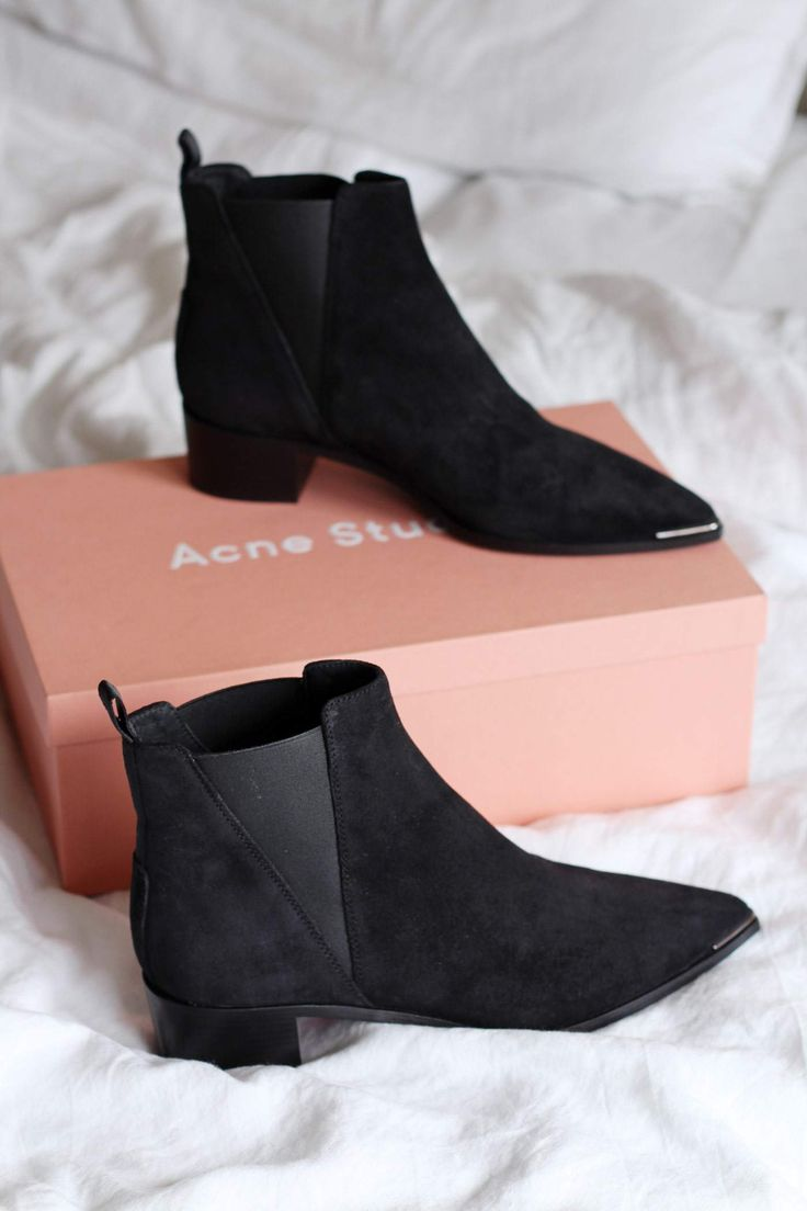 New In: Acne Jensen Boots in Black Suede - The Lovecats Inc